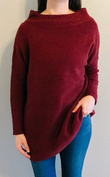 Burgundy Knit Pullover