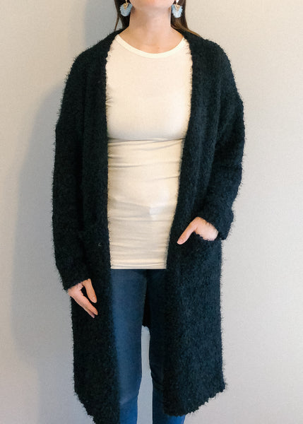 Black Eyelash Cardigan