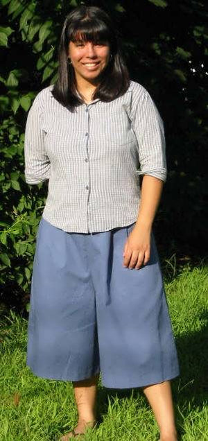 front pleat culotte (heather blue-color not available)