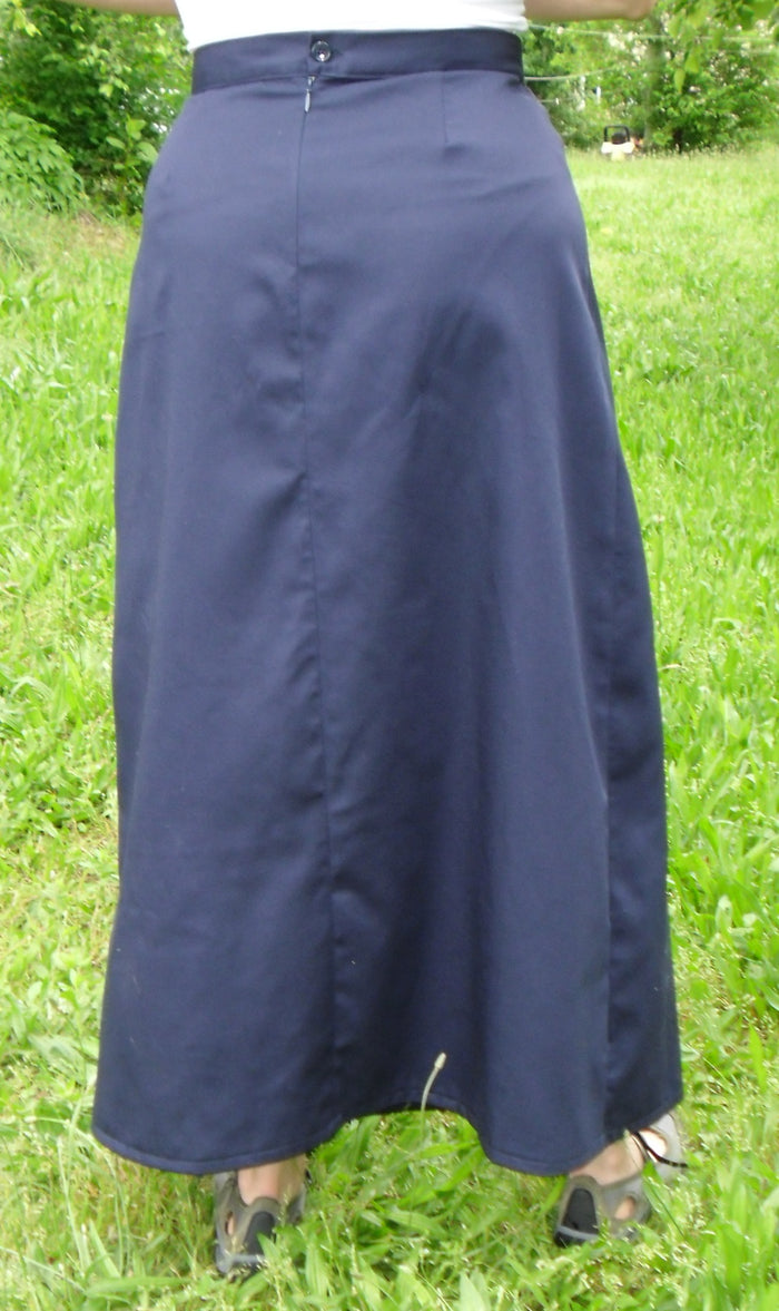 Long Fitted A-line Skirt size 22 Black