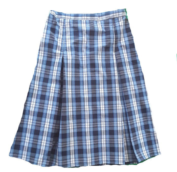 blue plaid pleated Uniform Skirt size 8 & 12