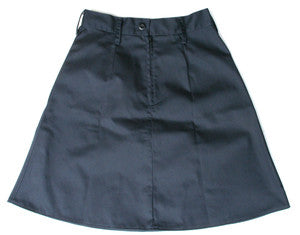 Child Fitted twill uniform skirt with belt loops