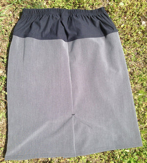 back of maternity pencil skirt