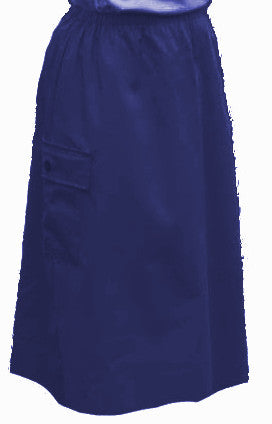 Girls Long Elastic Waist A-line Twill Cargo Skirt