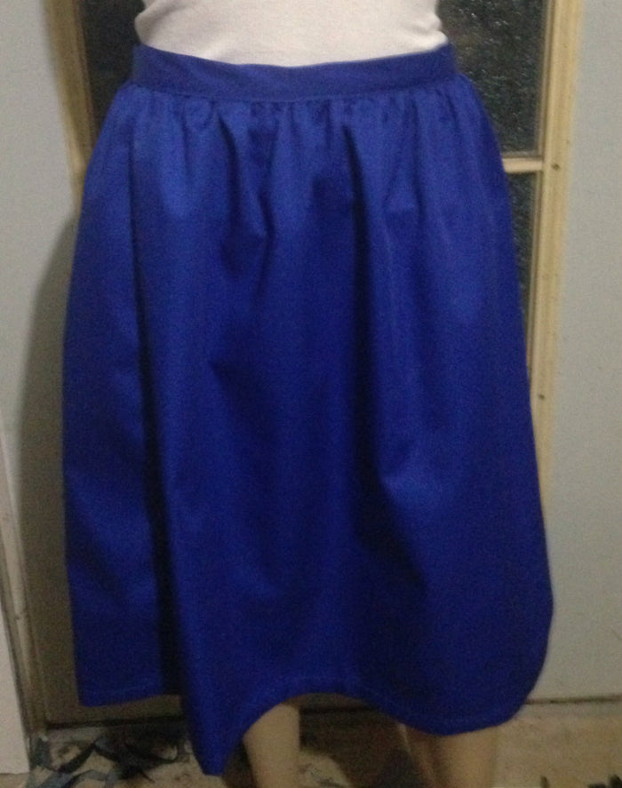 Girls twill gathered skirt with fitted waist