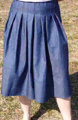 Modest Full Pleat Culottes Split Skirt In Denim And Solids Small-XL