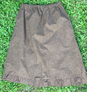 Brown print ruffle skirt