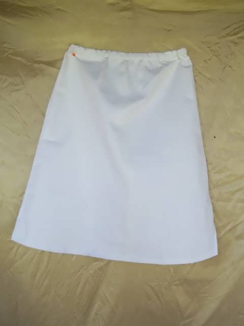 Long Skirt - Twill - No Slit - White - SALE
