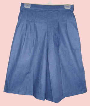 front pleat culottes with side zipper