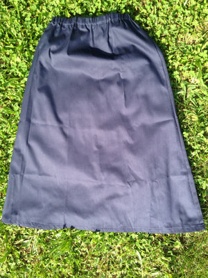 navy twill elastic waist skirt