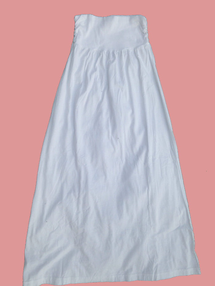 Extra Soft Maxi Knit Skirt-Small White
