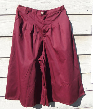 front pleat culottes in crenberry