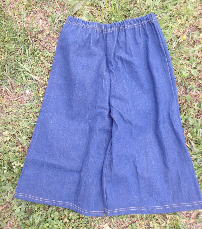 Girls Denim Culottes - Elastic Waist