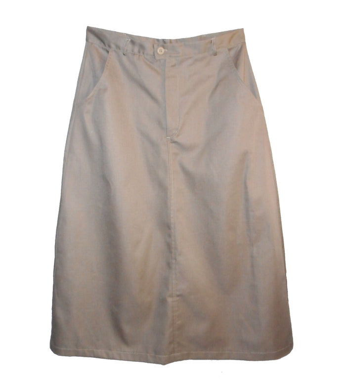 Adult Long Twill Uniform Skirt with pockets-SALE Size 6-16