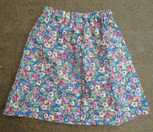 skirt country blue floral