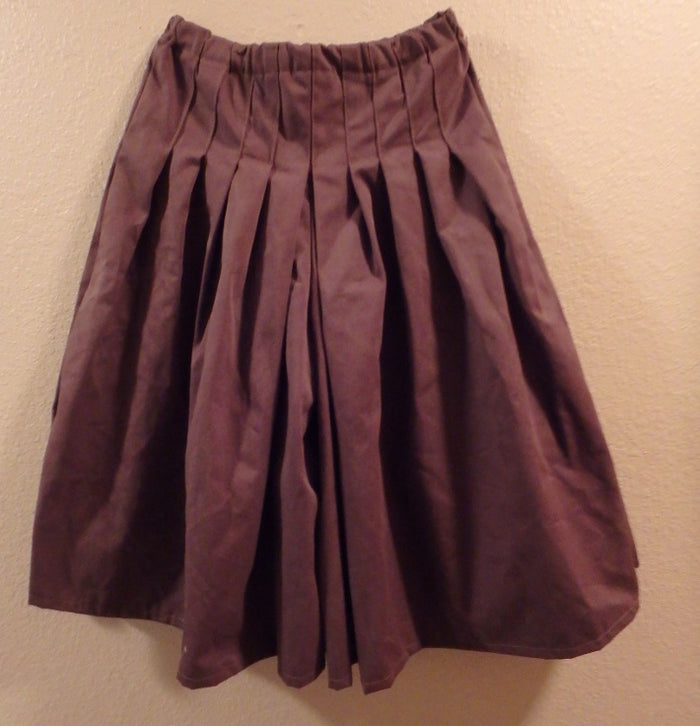 Modest Full Pleat Culottes -Chocolate brown -XS