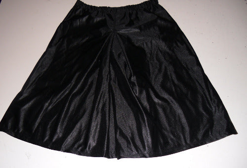 Inverted Box Pleat Culottes -black dazzle