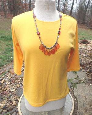 elbow length t-shirt sunflower yellow