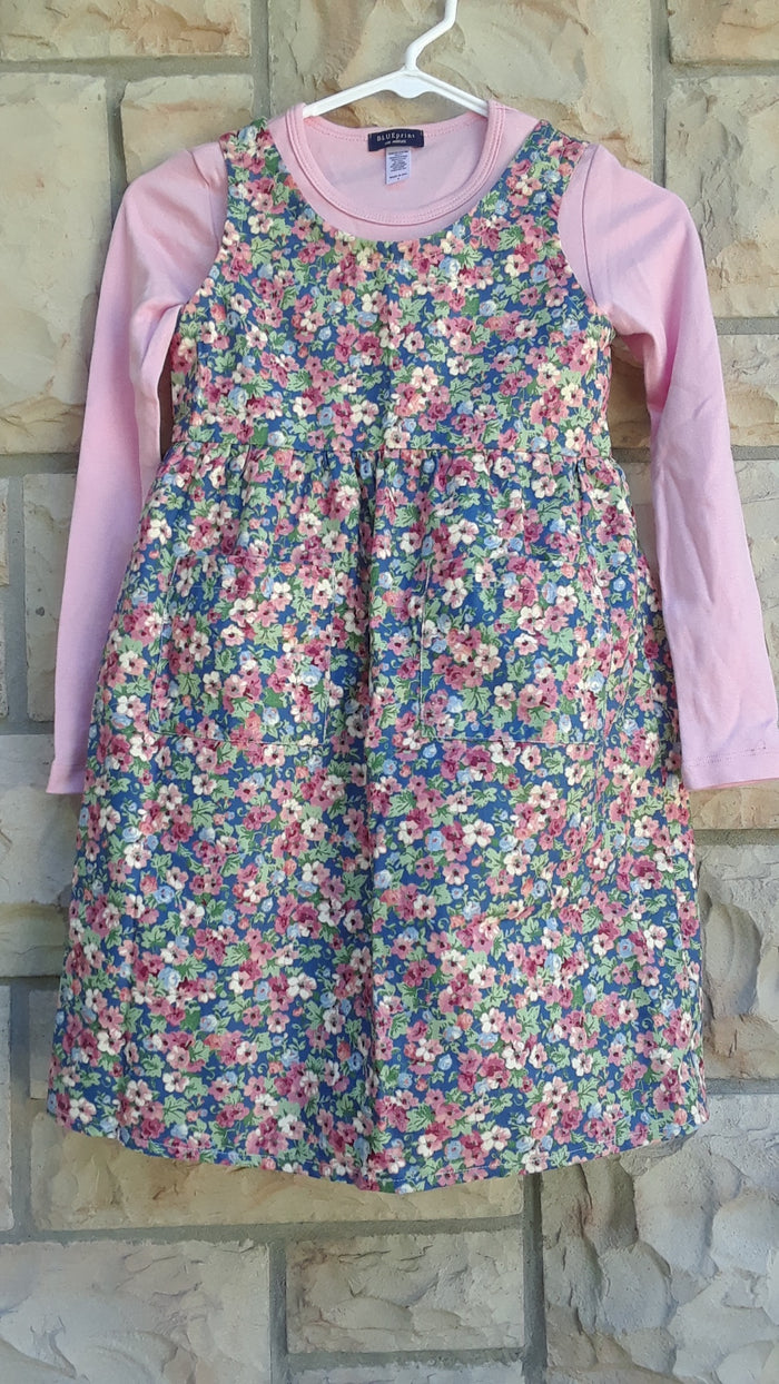 Girls Modest Floral Jumper