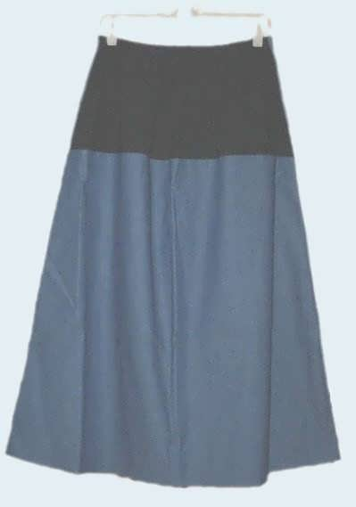 Long Denim Maternity Skirt