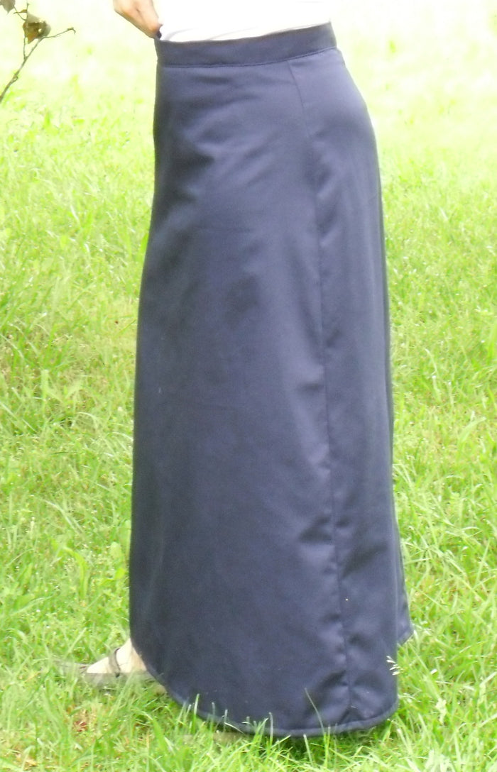 Long Fitted A-line Skirt-Navy size 24