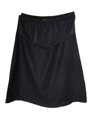 maternity half slip black