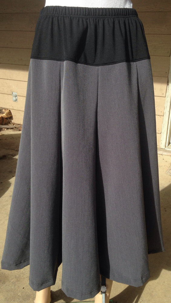 Long Gored Maternity Skirt