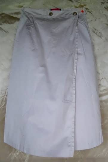Long Khaki Skirt - Cotton - No Slit - Size 6 - SALE