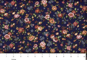 navy country floral