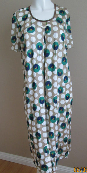 tulip print nursing nightgown