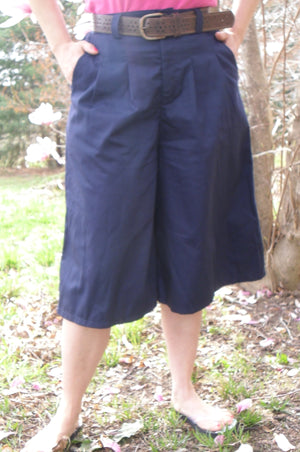 culotte front pleat with belt