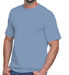 Adult Basic T-shirt -carolina blue medium