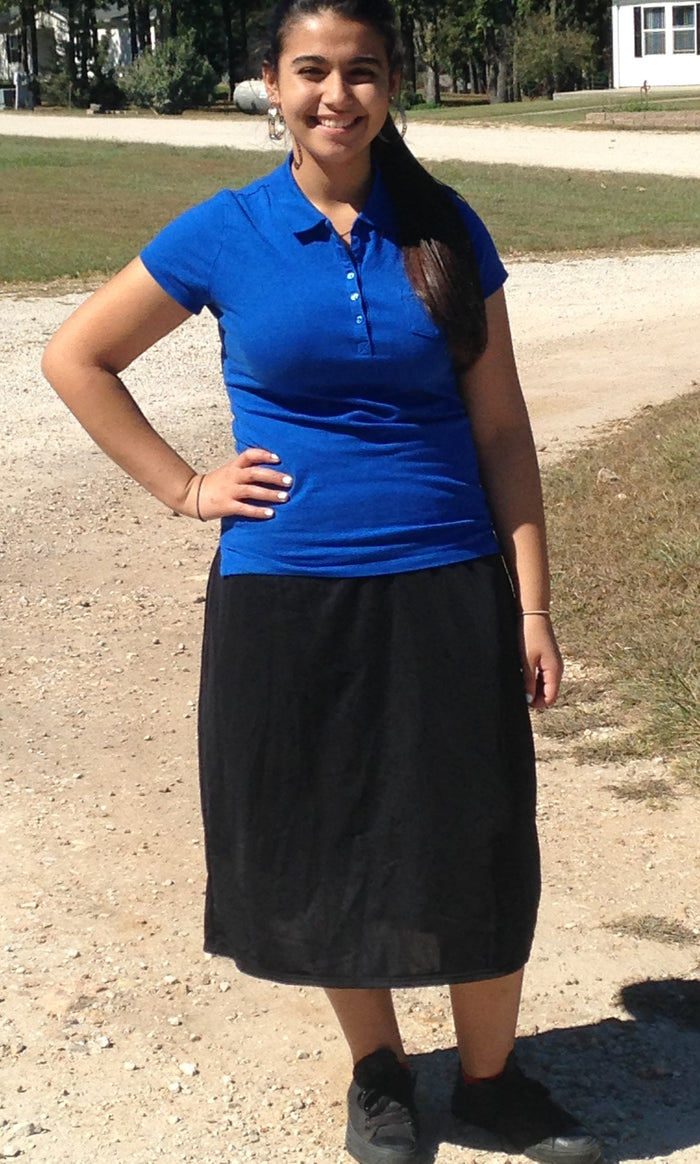 Modest Exercise Skort In Black for Agape Baptist School-Stockton, MO