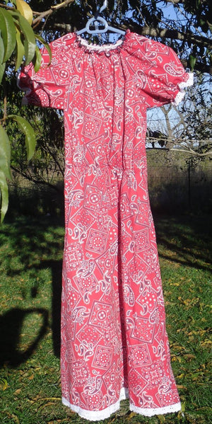 Bandana Peasant Dress