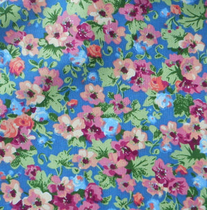 country blue floral