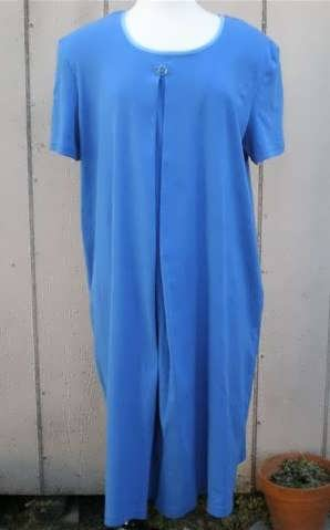 Nursing Nightgown-short Sleeve-blue Knit