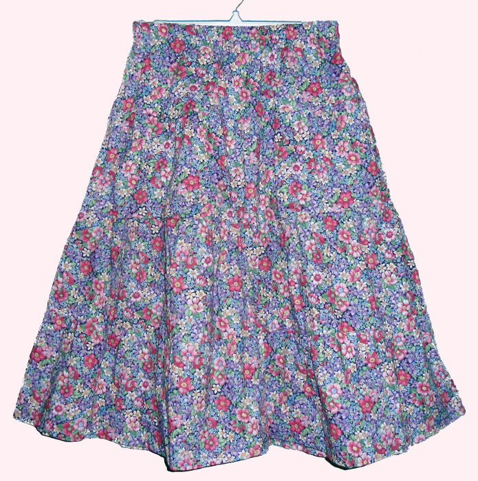 Girls Printed Prairie Skirt -Sizes 6-16
