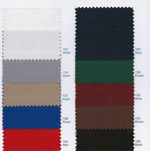 twill color chart for pleated uniform skirt