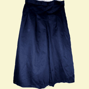 front pleat culotte no zip in navy