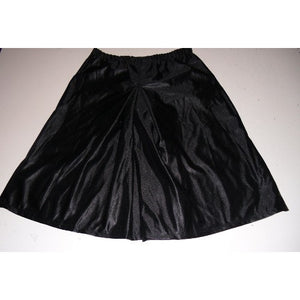 box pleat culotte in black dazzle