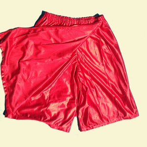 red dazzle skort underneath