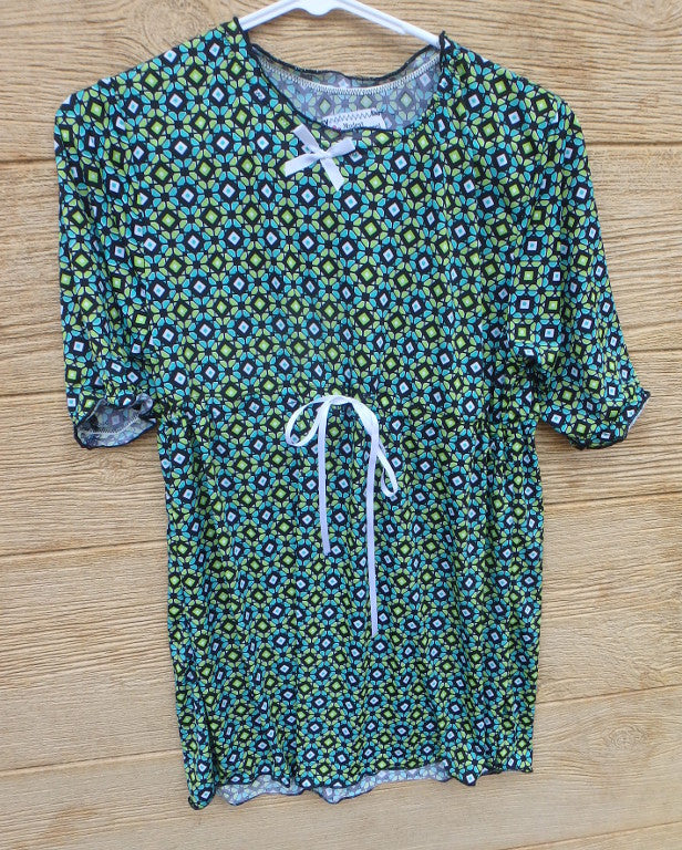 Maternity Top green and black print-medium