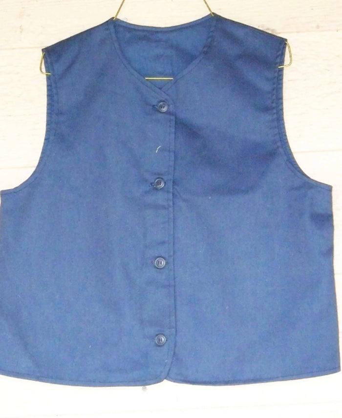 Girls Modest Twill Uniform Vest