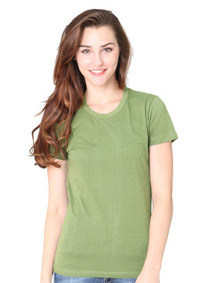 Made in USA organic jersey tee classic avacado