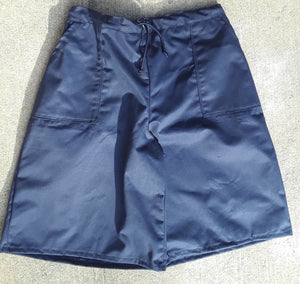 Drawstring culotte in navy