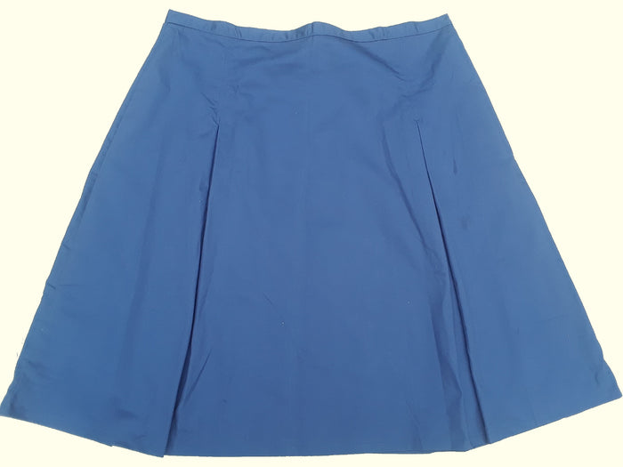 "Pleated School Uniform Skirt - navy 50"" waist"