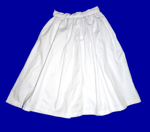 girls skirt gathered waist in white