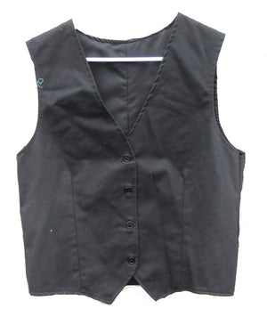 navy vest with darts