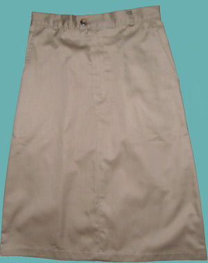 Long twill uniform skirt