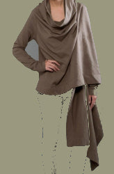front view long sleeve wrap cardigan
